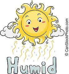 太陽, 潮濕, 插圖, 吉祥人