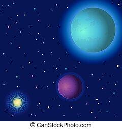 太陽, 空間, 行星