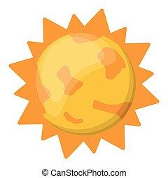 太陽, 符號, 卡通, 被隔离