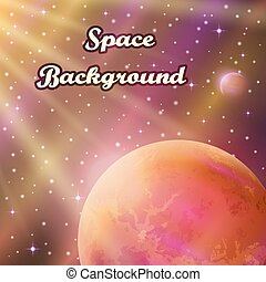 太陽, 行星, 背景, 空間
