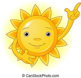 太陽, 頂部, 點