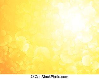太陽, bokeh, 黃色的背景, 發光