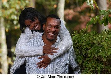 夫婦, 享用, eachother, african american