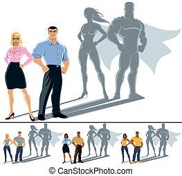 夫婦, 概念, superhero