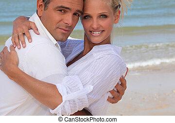 夫婦, 海灘