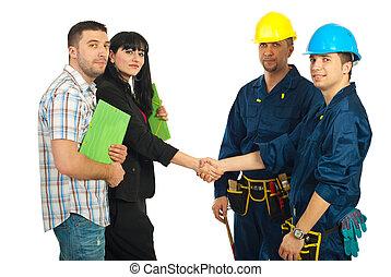 夫婦, 隊, 工人, 協議