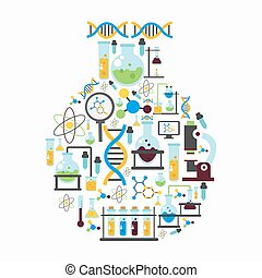 套間, 化學, 作品, 實驗室