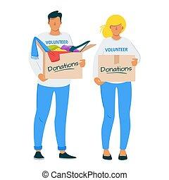套間, 婦女, 衣服, 插圖, 捐贈, 慈善, 人