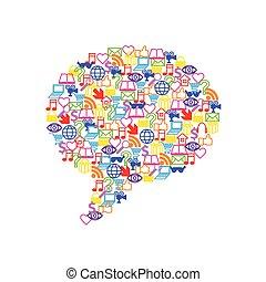 套間, 形式, 圖象, 媒介, 矢量, 演說, 社會, 氣泡