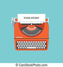 套間, 故事, 分享, 你, 插圖