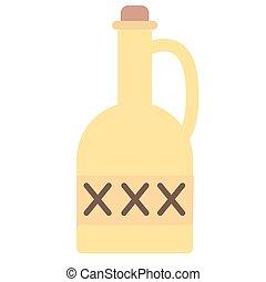 套間, 白色, 毒物, 插圖, 瓶子