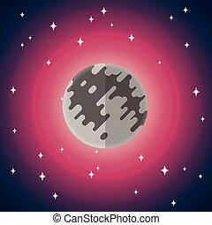 套間, 矢量, 圖象, 月亮