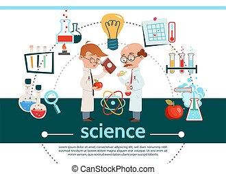 套間, 科學, 作品