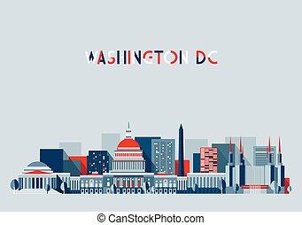 套間, 華盛頓特區, 插圖, 地平線, 設計