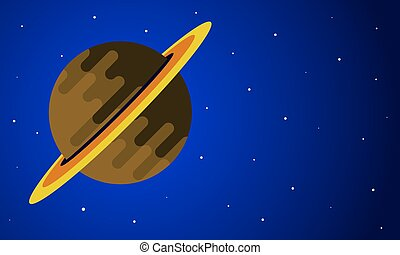 套間, 設計, 土星, 天空