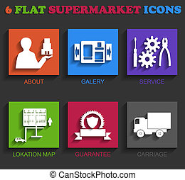 套間, 超級市場, 圖象