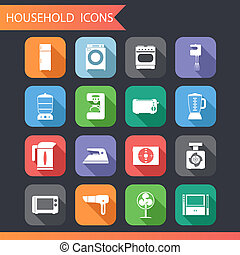 套間, 集合, 圖象, 家庭, 插圖, 符號, 矢量