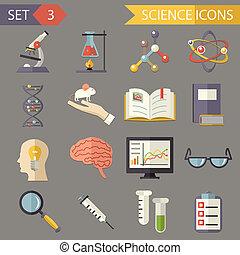 套間, 集合, 圖象, 科學, 符號, 矢量, retro