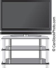 套間, 電視, 電視, 現代, 站, 面板