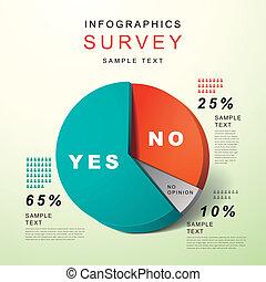 套間, 風格, 摘要, 餅形圖, infographics