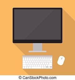套間, 風格, 電腦, 桌面