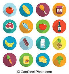 套間, 食物, 集合, 超級市場, 圖象