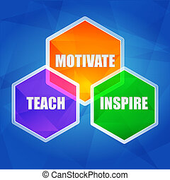 套間, 鼓舞, 激發, 六邊形, 設計, 教