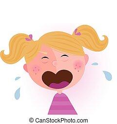 女嬰, 哭泣