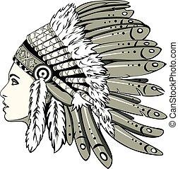 女孩, 印第安語, 頭飾
