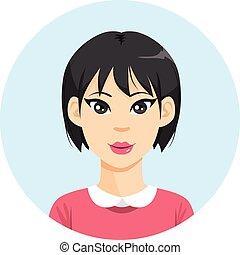 女孩, 婦女, 亞洲人, avatar
