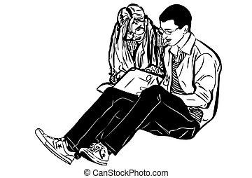 女孩, 書, 人, 略述, 閱讀
