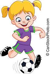 女孩, 足球