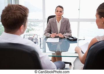 她, 律師, 勸告, 客戶