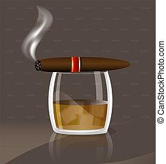 威士忌酒, 雪茄
