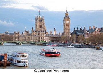 威斯敏斯特 橋梁, ben, 倫敦, 大