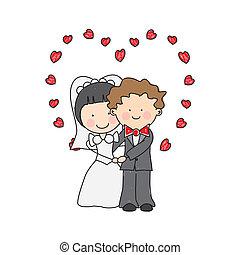 婚禮, 卡片, 邀請