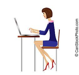婦女, 工作, 商業辦公室