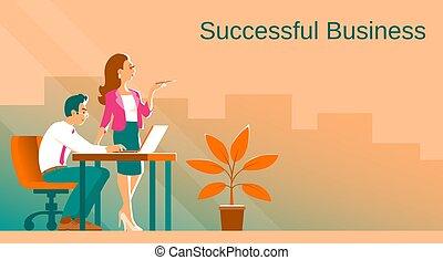 婦女, 工作, process., 人, 商業描述