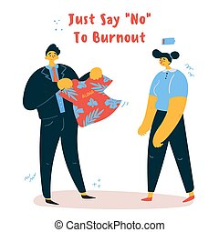 婦女, 老板, 感情, burnout, 她