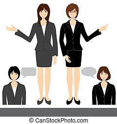 婦女, 集合, 事務