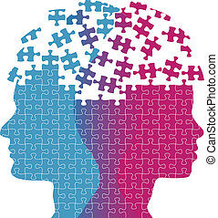婦女, 難題, 頭腦, 想, 臉, 問題, 人