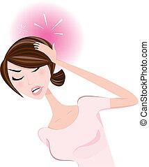 婦女, 頭疼