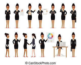 婦女, 黑色, 商業字元