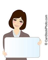 婦女, whiteboard