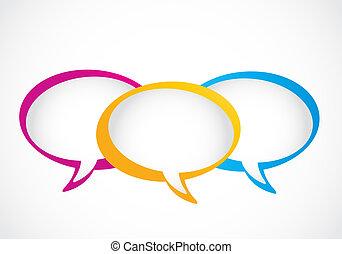 媒介, 氣泡, 社會, 演說, 組