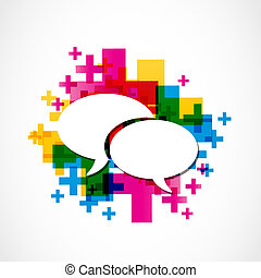 媒介, 社會, 演說, 組, 積極