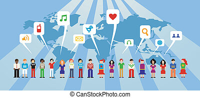 媒介, 网絡, 社會