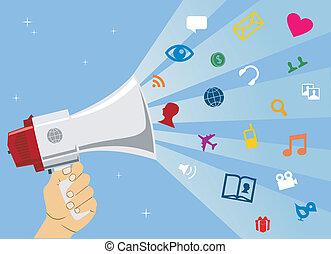 媒介, 通訊, 社會