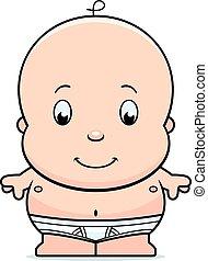 嬰孩, 卡通, 尿布
