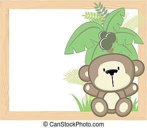 嬰孩, 框架, 猴子